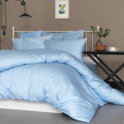 Quilt Cover Set Satin | Light Blue