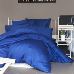 Quilt Cover Set Satin | Dark Blue