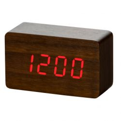 Alarm Clock Wood | Brown