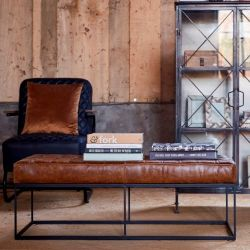 Leather Bench Lewis | Brown Leather