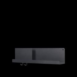 Klappregal 63x16,5 cm / 24,75x6,5 l Schwarz