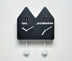 Double Q Clock Black