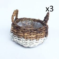 Bowl Abaca Set of 3 | White