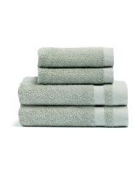 Handtuchset Wiederverwendete Baumwolle Aberdeen 4er-Set | Grün