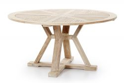 Round Table Circus 150 cm | 4 pers | Teak Whitewash