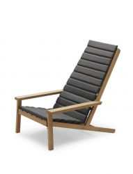 Cushion for Outdoor Deck Chair Between Lines | Charcoal
