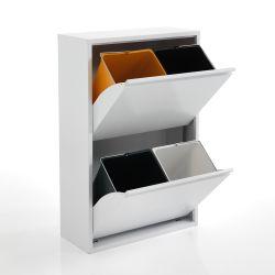 Abfalltrennmülleimer Split | Weiß