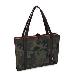 Reisebett für Hunde   Camouflage & Rosa