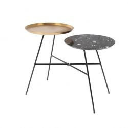 Table de Chevet Siblings | Noir & Or