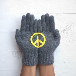 Handschuhe Peace | Stahl Grau