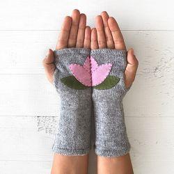 Handschuhe ohne Fingerspitzen Lotus | Grau