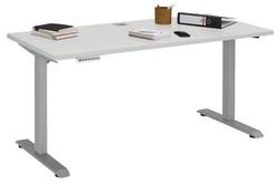 Verstellbarer Computertisch   Platin Grau Metall und Grau Platin