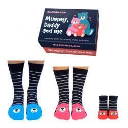 Socken 3-er Set | Mama | Papa | Baby
