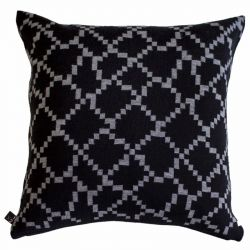 Seitti Cushion Cover | Black&Grey