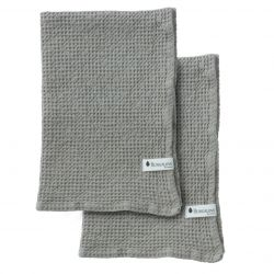 Set of 2 Towel Waffly | Stone