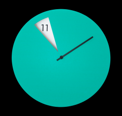 Freakish Clock Green