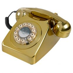 746 Telephone | Brushed Brass