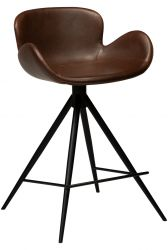 Counter Stool Gaia Artificial Leather | Vintage Cocoa
