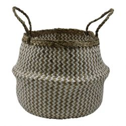 Basket Seagrass | White & Natural