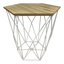 Table d'Appoint Large | Bois / Blanc