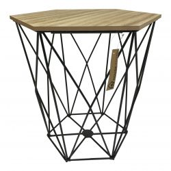 Table d'Appoint Large | Bois / Noir