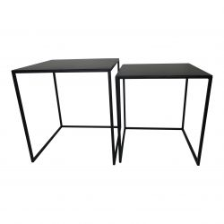 Table d'Appoint Noir | Set de 2