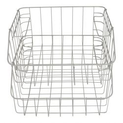 Metal White Baskets | Set of 2