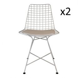 Wire Chair White | Set of 2