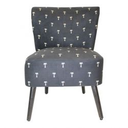 Chair Palm Tree Polyester | Wooden Legs