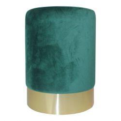Velvet Pouf | Green