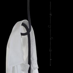 Hängende Garderobe Loop Rope | Schwarz
