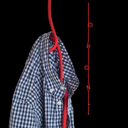 Hängende Garderobe Loop Rope | Rot
