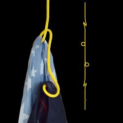 Hängende Garderobe Loop Rope | Gelb