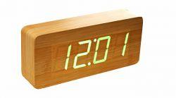 Réveil Slab Click Clock | Hêtre & Vert