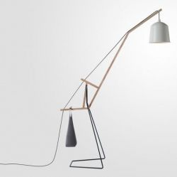 A Floor Lamp | White