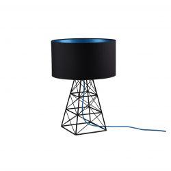 Tafellamp Pylon | Zwart + Blauwe Kabel