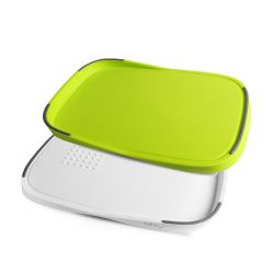 Two Sided Cutting Board Livio | Green/Grey