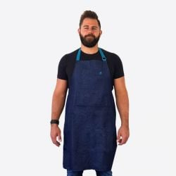 Denim Apron in Jam Jar | Blue