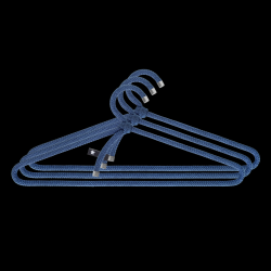 Set of 3 Clothes Hangers Rope | Blue