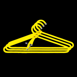 Set of 3 Clothes Hangers Rope | Yellow