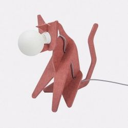 Table Lamp Get Out Cat | Red