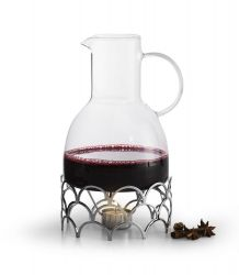 Mulled Wine Jug with Warmer | Silver