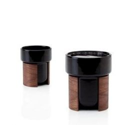 WARM Set of 2 Tea & Coffee Cups | Black