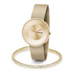 Woman Watch Cielo 37 & Bracelet | Mesh Gold