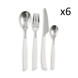 Cutlery Dune Set of 24 | White