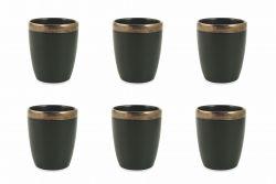 Waterglas Naima Set van 6 | Zwart