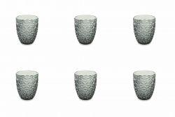 Waterglas Gemma Set van 6 | Zwart