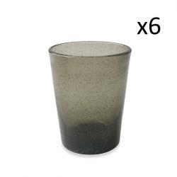 Wasserglas Cancun Satin 6er-Set | Rauchgrau