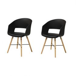 Chairs Louis Set of 2 | Black