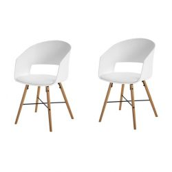 Chairs Louis Set of 2 | White